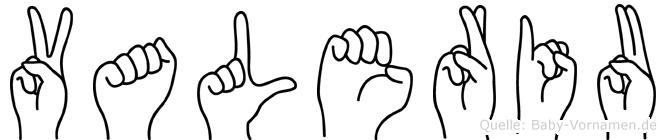 Valeriu im Fingeralphabet der Deutschen Gebärdensprache