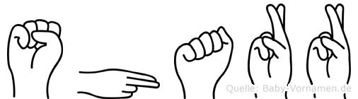 Sharr in Fingersprache für Gehörlose