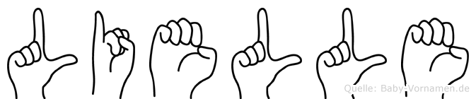Lielle im Fingeralphabet der Deutschen Gebärdensprache