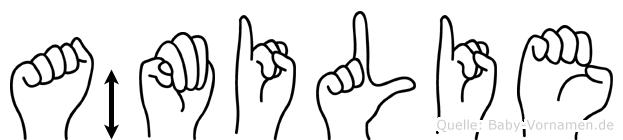 Ämilie im Fingeralphabet der Deutschen Gebärdensprache