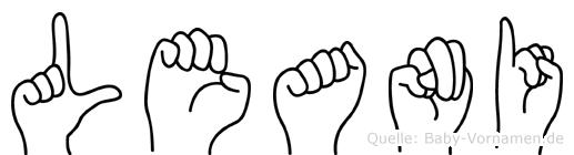 Leani im Fingeralphabet der Deutschen Gebärdensprache