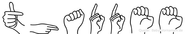 Thaddee in Fingersprache für Gehörlose