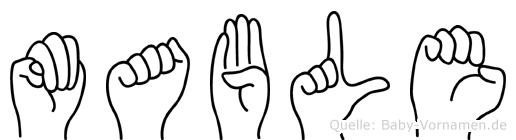 Mable in Fingersprache für Gehörlose