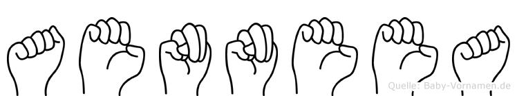 Aenneea im Fingeralphabet der Deutschen Gebärdensprache