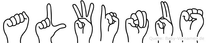 Alwinus in Fingersprache für Gehörlose