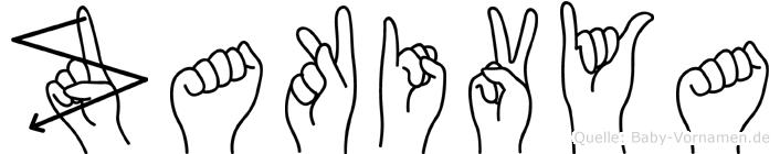 Zakivya im Fingeralphabet der Deutschen Gebärdensprache