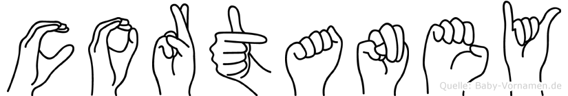 Cortaney in Fingersprache für Gehörlose