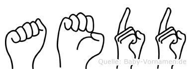 Aedd in Fingersprache für Gehörlose