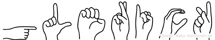 Glerick im Fingeralphabet der Deutschen Gebärdensprache