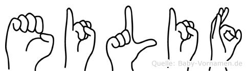 Eilif in Fingersprache für Gehörlose