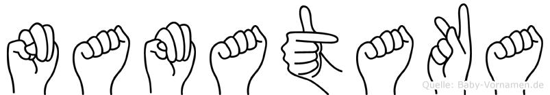 Namataka in Fingersprache für Gehörlose