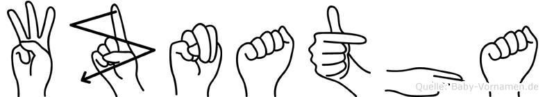 Wznatha in Fingersprache für Gehörlose