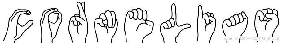 Cornelias im Fingeralphabet der Deutschen Gebärdensprache