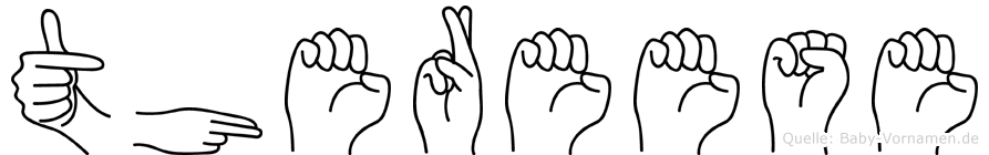 Thereese in Fingersprache für Gehörlose