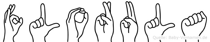 Florula im Fingeralphabet der Deutschen Gebärdensprache