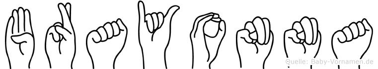 Brayonna in Fingersprache für Gehörlose