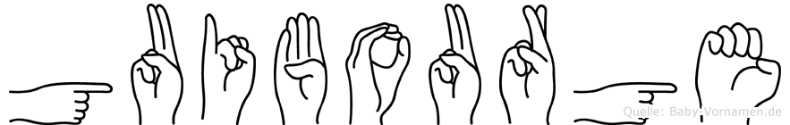 Guibourge in Fingersprache für Gehörlose