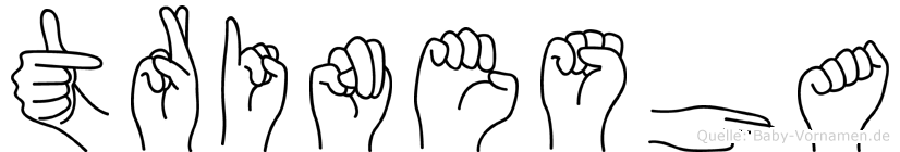 Trinesha im Fingeralphabet der Deutschen Gebärdensprache