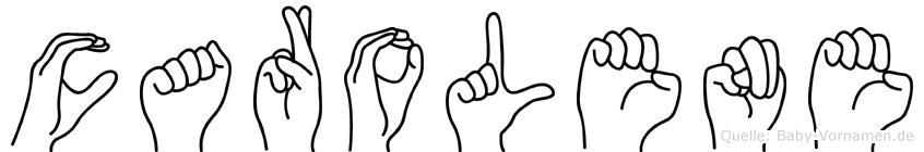 Carolene im Fingeralphabet der Deutschen Gebärdensprache