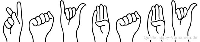 Kaybaby im Fingeralphabet der Deutschen Gebärdensprache