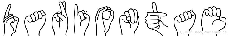 Dariontae in Fingersprache für Gehörlose