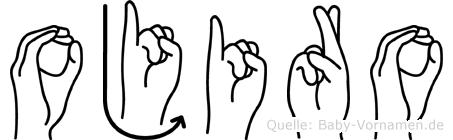 Ojiro in Fingersprache für Gehörlose