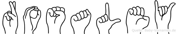Rosaley im Fingeralphabet der Deutschen Gebärdensprache