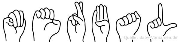 Merbal im Fingeralphabet der Deutschen Gebärdensprache