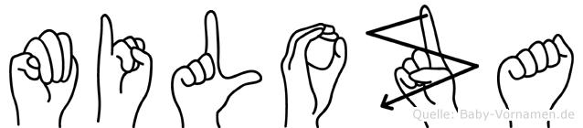 Miloza in Fingersprache für Gehörlose