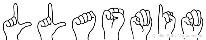 Llasmin in Fingersprache für Gehörlose
