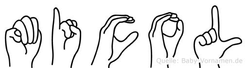 Micol in Fingersprache für Gehörlose