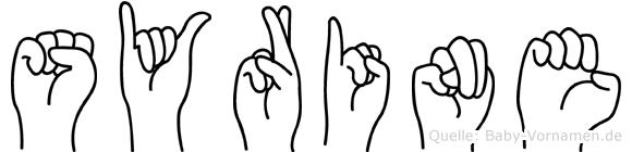 Syrine im Fingeralphabet der Deutschen Gebärdensprache