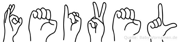 Feivel in Fingersprache für Gehörlose