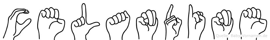 Celandine im Fingeralphabet der Deutschen Gebärdensprache