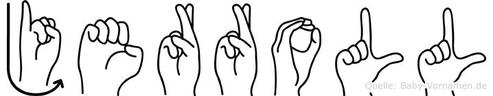 Jerroll in Fingersprache für Gehörlose