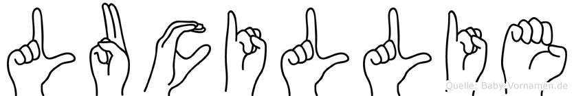 Lucillie in Fingersprache für Gehörlose