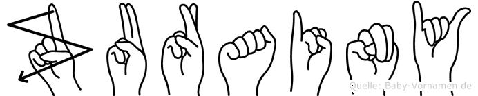 Zurainy in Fingersprache für Gehörlose