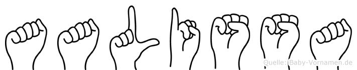 Aalissa im Fingeralphabet der Deutschen Gebärdensprache