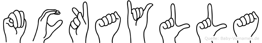 Mckaylla in Fingersprache für Gehörlose