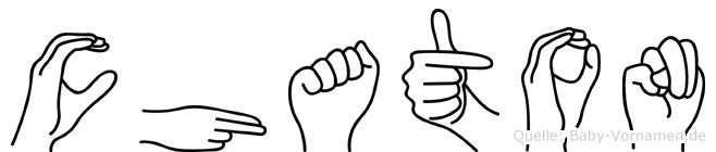 Chaton im Fingeralphabet der Deutschen Gebärdensprache