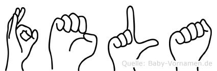 Fela in Fingersprache für Gehörlose