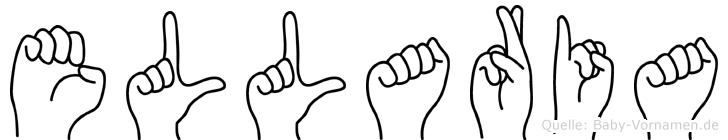 Ellaria im Fingeralphabet der Deutschen Gebärdensprache