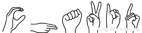 Chavid in Fingersprache für Gehörlose