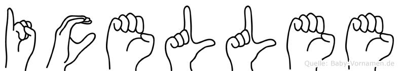 Icellee in Fingersprache für Gehörlose