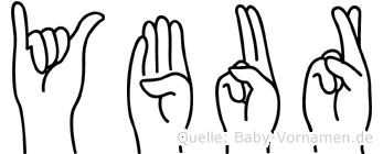 Ybur in Fingersprache für Gehörlose