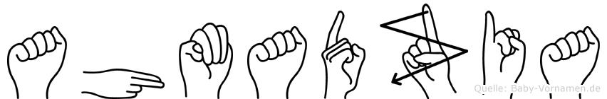 Ahmadzia in Fingersprache für Gehörlose