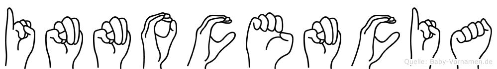 Innocencia im Fingeralphabet der Deutschen Gebärdensprache
