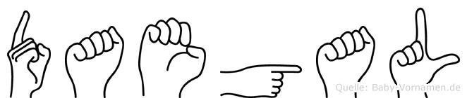 Daegal in Fingersprache für Gehörlose