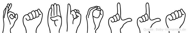 Fabiolla in Fingersprache für Gehörlose