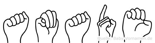 Amade in Fingersprache für Gehörlose